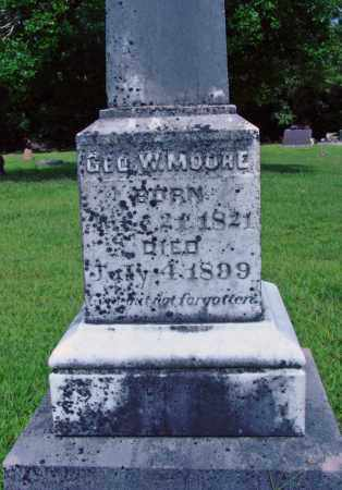MOORE, GEO. W. - Cleburne County, Arkansas | GEO. W. MOORE - Arkansas Gravestone Photos