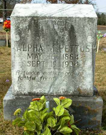 PETTUS, ALPHA M. - Cleburne County, Arkansas | ALPHA M. PETTUS - Arkansas Gravestone Photos