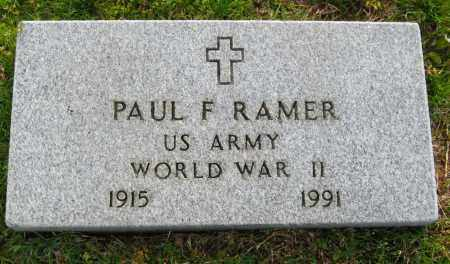 RAMER  (VETERAN WWII), PAUL F. - Cleburne County, Arkansas | PAUL F. RAMER  (VETERAN WWII) - Arkansas Gravestone Photos