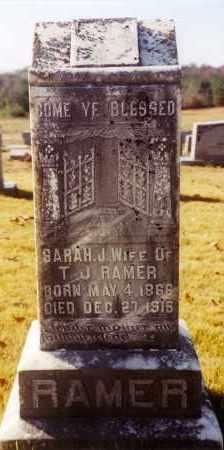 RAMER, SARAH J - Cleburne County, Arkansas | SARAH J RAMER - Arkansas Gravestone Photos