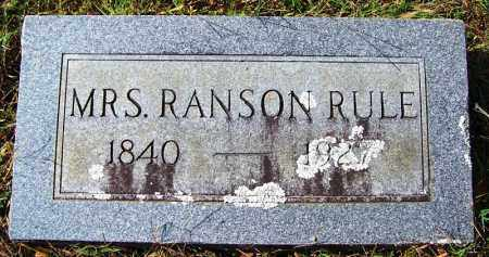 RULE, MRS RANSON - Cleburne County, Arkansas | MRS RANSON RULE - Arkansas Gravestone Photos