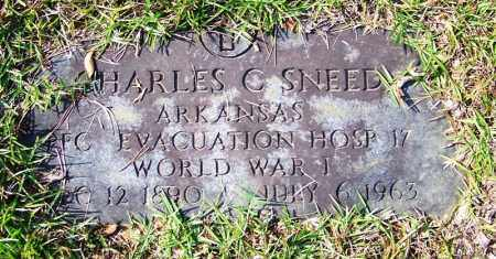 SNEED (VETERAN WWI), CHARLES C - Cleburne County, Arkansas | CHARLES C SNEED (VETERAN WWI) - Arkansas Gravestone Photos
