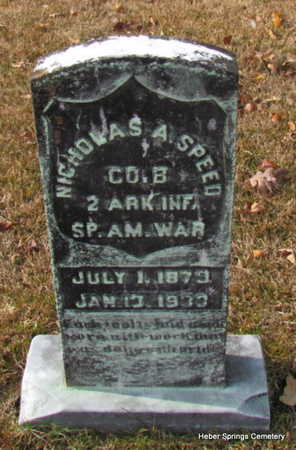 SPEED (VETERAN SAW), NICHOLAS A - Cleburne County, Arkansas | NICHOLAS A SPEED (VETERAN SAW) - Arkansas Gravestone Photos