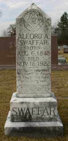 SWAFFAR, ALFORD A. - Cleburne County, Arkansas | ALFORD A. SWAFFAR - Arkansas Gravestone Photos