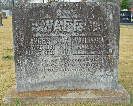 SWAFFAR, WILLIAM W. - Cleburne County, Arkansas | WILLIAM W. SWAFFAR - Arkansas Gravestone Photos