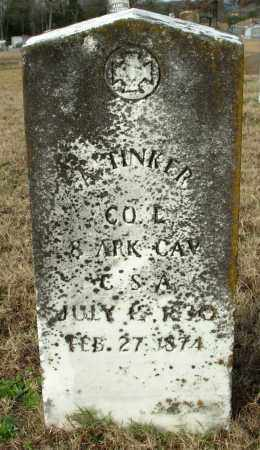 TINKER (VETERAN CSA), ANDREW - Cleburne County, Arkansas | ANDREW TINKER (VETERAN CSA) - Arkansas Gravestone Photos