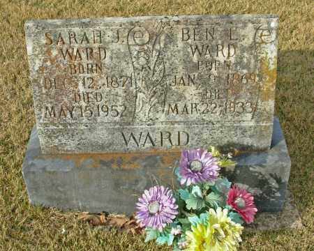 HOLMES WARD, SARAH J. - Cleburne County, Arkansas | SARAH J. HOLMES WARD - Arkansas Gravestone Photos