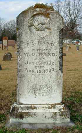 WARD, T. E. - Cleburne County, Arkansas | T. E. WARD - Arkansas Gravestone Photos