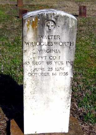 WRIGGLESWORTH (VETERAN), WALTER - Cleburne County, Arkansas | WALTER WRIGGLESWORTH (VETERAN) - Arkansas Gravestone Photos